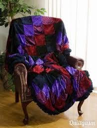Velvet Dreams Quilt & Sham from Midnight Velvet® | Bedroom ... & Crushed Velvet Queen Patchwork Quilt 60x75 Handmade Comforter Bedspread Adamdwight.com