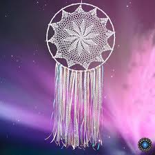 Dream CatchersCom Infinite White Flower Mandala Lace Tassel Dream Catcher Project 92