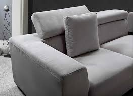 amazoncom vig furniture forte  grey microfiber modern sectional