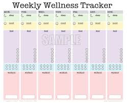 isagenix measurement tracker weekly wellness tracker activity log sleep diary food diary mood
