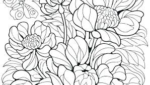 Spring Flowers Coloring Pages Printable Spring Flowers Ng Pages