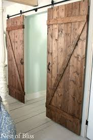 diy barn doors nest of bliss