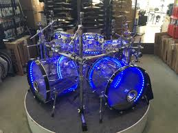Light Up Drum Dw Design Series 7 Piece Acrylic Drum Set With Lights And Dw
