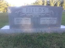 Jennie Lewis Fields (1885-1957) - Find A Grave Memorial