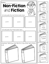 non fiction and fiction read the les of the books and sort cut and paste