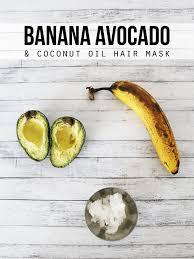 coconut oil avocado banana hair mask