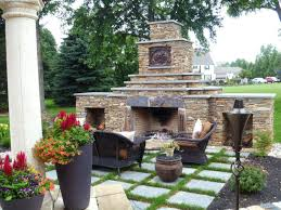 outside brick fireplace outdoor kits photos