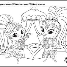 Picture Thanksgiving Shimmer Shine Coloring Pages 8 And Printables