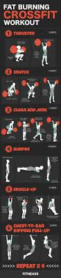 6 fat burning crossfit moves infographic