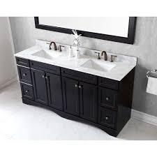 72 Inch Bathroom Vanity Double Sink Amazing Shop Virtu USA Talisa 48inch Square Carrara White Marble Double