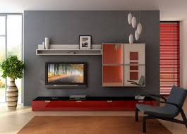 Small Living Room Idea Dark Brown Wooden Table Floating Black Tv Small Apartment Living