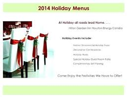Menu Templates Free Download Dinner For Word Holiday