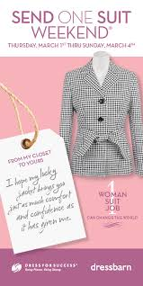donate to the dress for success suit drive