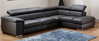modern leather sofa. Sofa, Modern Leather Sofa Black Form L Chrome Iron Feet Plus Blue Fur \