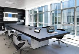 Office conference room design Door Smart Conference Room Komstadt Systems Komstadt Systems Smart Conference Room