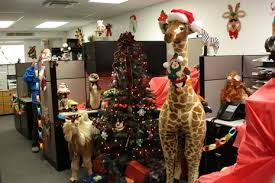 decorating the office for christmas. christmas office decorating fine pixels cubicle the for n
