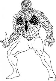 Small Picture spiderman venom coloring pages free free printable venom coloring