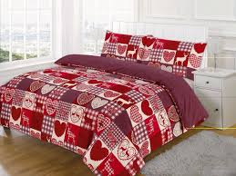 image of love duvet cover red