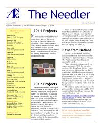 Example Of A News Letter Sample NJNA Newsletter New Jersey Needle Artists 10