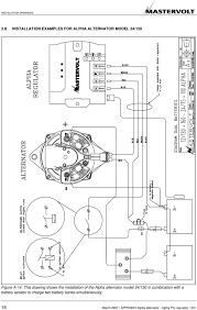 alpha battery charger wiring diagram wiring library drawing shows the installation of the alpha alternator model 24 150 in