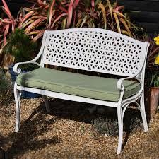 white garden bench.  White White July Garden Bench Inside C