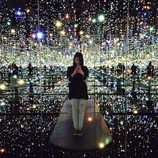 mirrored lighting. an infinite universe inside the mirrored lighting room