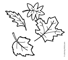 Small Picture Fall Leaves Coloring Pages And Of esonme