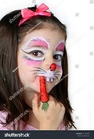 Small Picture Pretty Girl Face Painting Bunny Stock Photo 141399478 Shutterstock