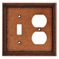 copper outlet covers. Exellent Outlet Liberty Kitchen Cabinet Hardware  Ruston Combo Single Toggle Outlet  In Sponged Copper On Covers H