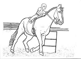 Barrel Racing Horse Coloring Pages Sketch