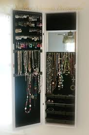 hanging mirror jewelry armoire breathtaking over the door jewelry organizer for your residence design mirror jewelry cabinet over wall hanging mirror