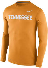 Nike Dri Fit Long Sleeve Size Chart Nike Tennessee Volunteers Mens Stadium Touch Dri Fit Long