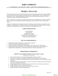 Interesting It Program Manager Resume Project Manager Resume