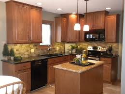 Medium Oak Kitchen Cabinets Pictures Of Kitchens With Oak Cabinets And Black Countertops