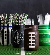 Mason Jar Crafts Football Party Mason Jars Mason Jar Crafts Love