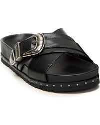 zoomed image frye women s lily black western criss cross sandals black