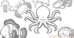 Octopus Coloring Pages Ocean Coloring Pages To Print Ocean Creatures