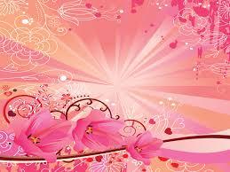 Pink Flower Garden Powerpoint Templates Flowers Fuchsia Magenta