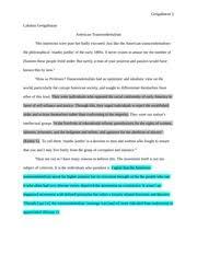 transcendentalism study resources 5 pages transcendentalism persuasive essay