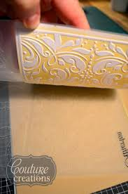 couture creations adore by mel connell how to use your embossing folders to make a letterpress background for your layouts
