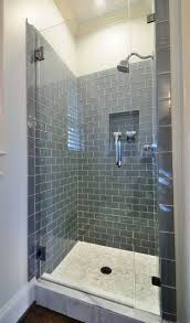 Bathroom remodel gray tile Greyish Blue Frameless Shower With Smoky Bluegray Subway Tile Pinterest Frameless Shower With Smoky Bluegray Subway Tile Rooms