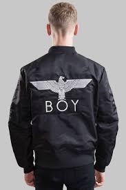 boy ma1 jacket black white