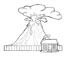 volcano coloring pages s hawaiian volcano coloring pages