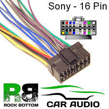 sony mdx sony mdx series car radio stereo 16 pin wiring harness loom bare wire lead
