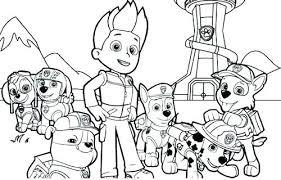 Nick Jr Paw Patrol Printable Coloring Pages Nickelodeon Free Pig