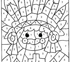 turkey math coloring pages thanksgiving worksheets free sheets