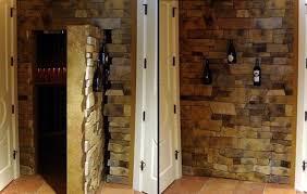 hidden door in wall. stone-wall hidden door in room. wall c