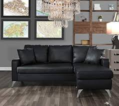Couch for small space Apartment Image Unavailable High Ground Gaming Amazoncom Divano Roma Furniture Bonded Leather Sectional Sofa
