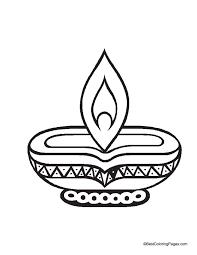 Diwali diya coloring page | Download Free Diwali diya coloring ...