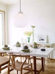 white and light dining room